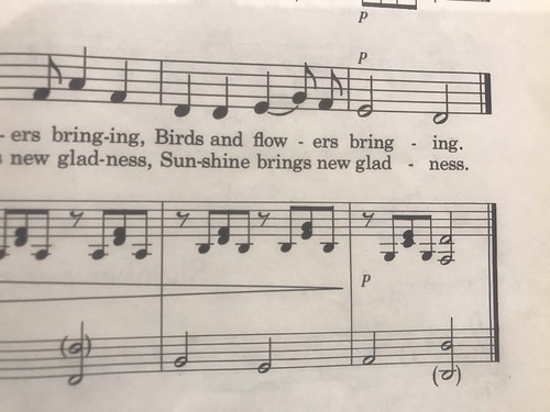 birds and flowers singing