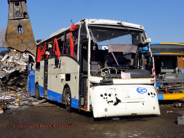 2004 Scania K114EB Jonckheere Mistral Arriva UC Plus 32 is on its final journey to bus heaven one bite at a time