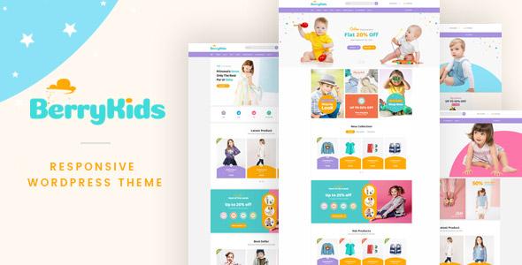 BerryKid Fashion WordPress Theme Themelexus
