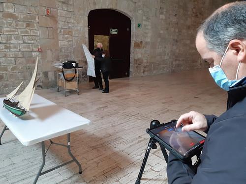 Visita al MMB i escaneig de la maqueta de la Francisca