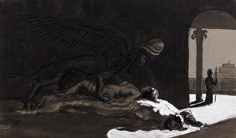 Fritz Schwimbeck - The Dream of the Semiramis, 1909