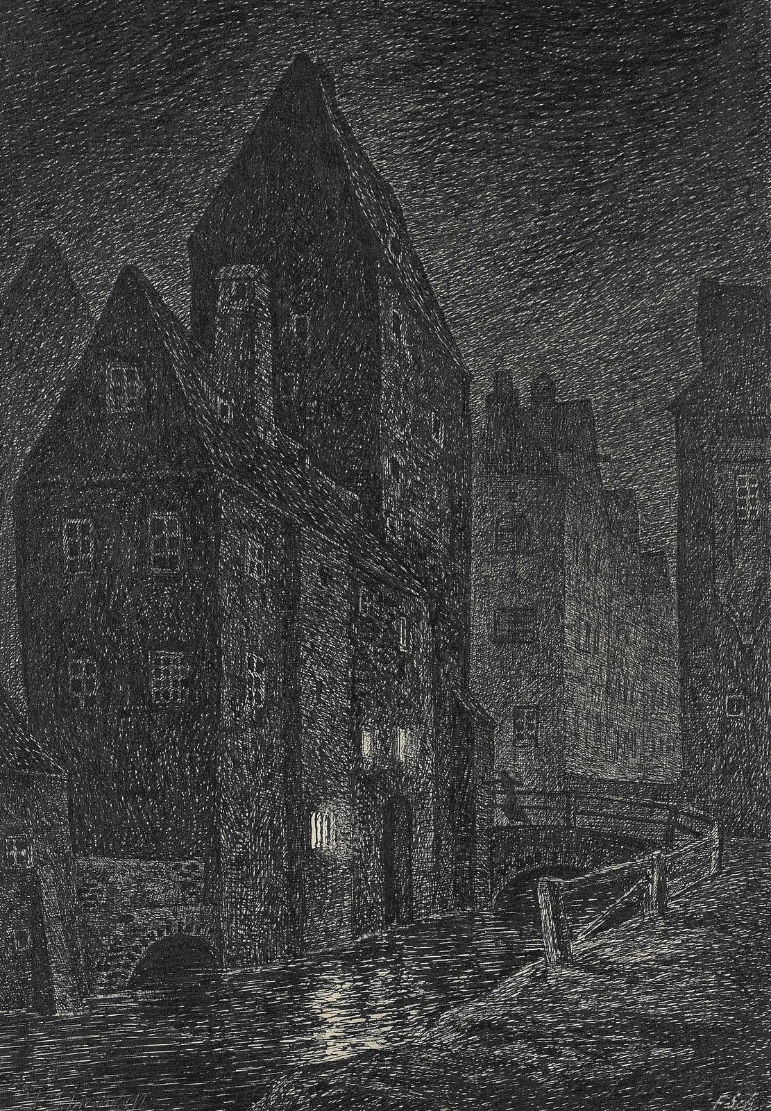 Fritz Schwimbeck - Torture Tower, 1919