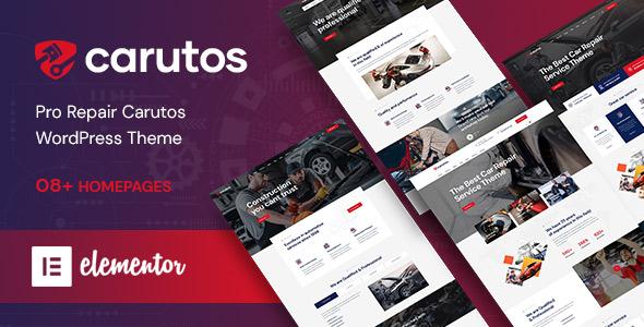 Carutos - Car Repair Services & Auto Parts WordPress Theme