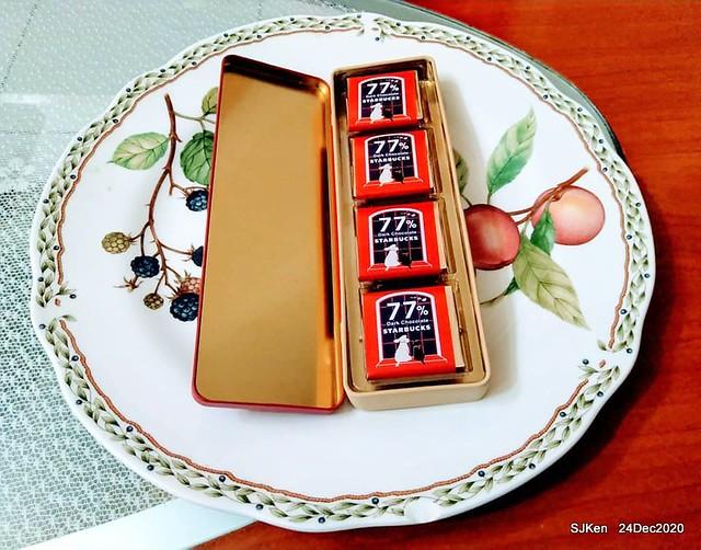Starbucsk black chocolate gift box, Taipei, Taiwan, Dec 08, 2020, SJKen
