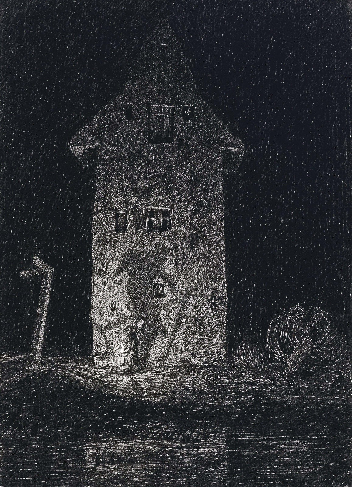Fritz Schwimbeck - Fantasies About An Old House, 1917