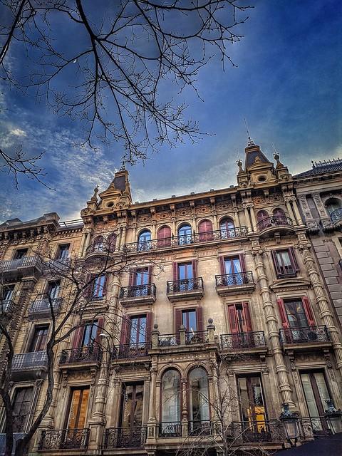 Barcelona. Casa Sebastià Pratjusà, 1892-94. Estilo Eclèctic monumentalista. Arquitecto Antoni Serra