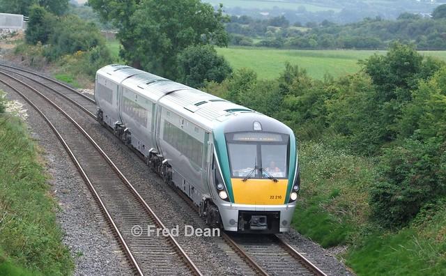 Irish Rail ICR Set 16 at Newtwopothouse.