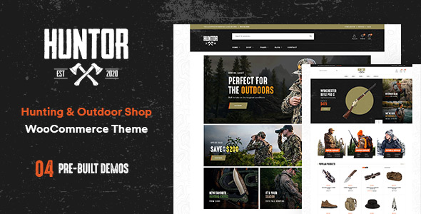 Huntor - Hunting & Outdoor Shop WooCommerce theme Themelexus