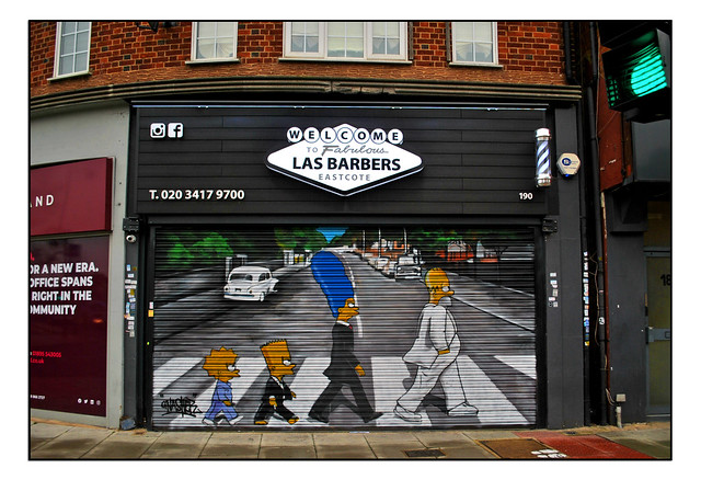 LONDON SIMPSONS ART by GNASHER