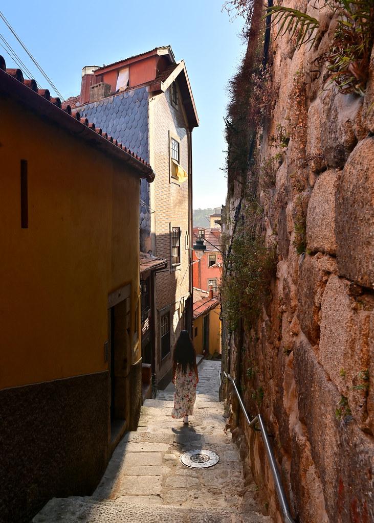Las escadas do barredo, la calle más bonita de Oporto