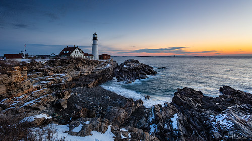 lighthouse sunrise winter portlandhead bay me capeelizabeth newengland maine jclay ocean bestcapturesaoi elitegalleryaoi aoi
