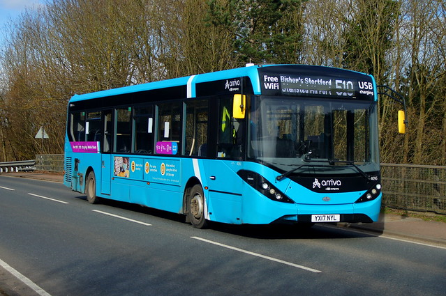 One by One: Arriva Harlow ADL Enviro200MMC YX17NYL (4096) Church Road Stansted Mountfitchet 24/02/21