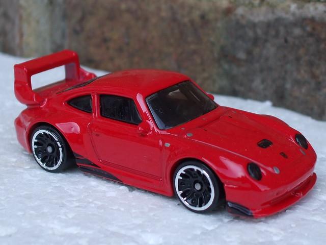 Hot Wheels Bright Red Porsche 993 GT2 Sports Car