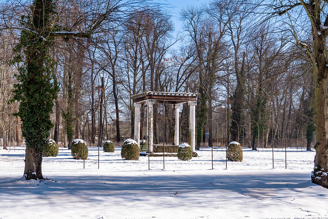 Potsdam, Park Sanssouci: Als Brunnen angelegtes Stibadium im Hippodrom - Stibadium in the form of a fountain in the Hippodrome