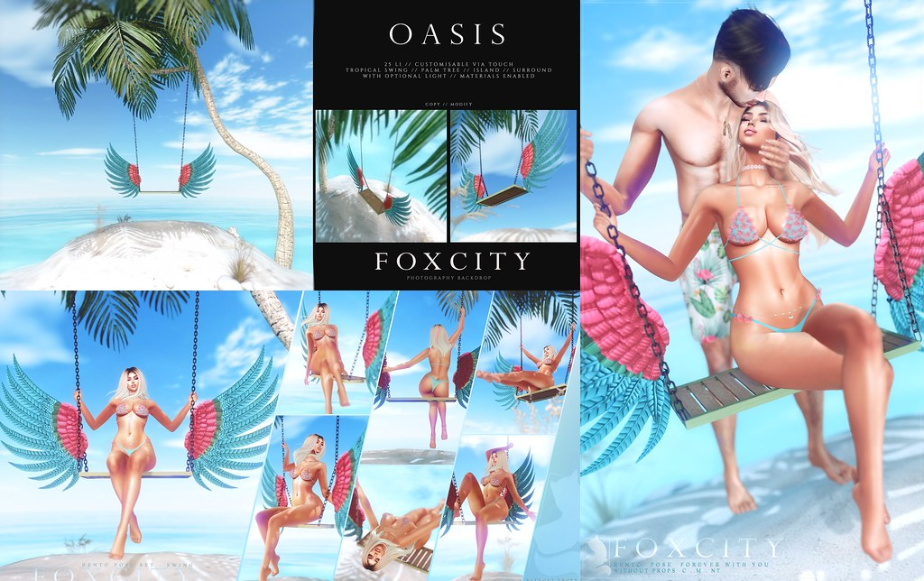 FOXCITY. Photo Booth – Oasis, Swing Bento Pose Set, Forever With You Bento Pose