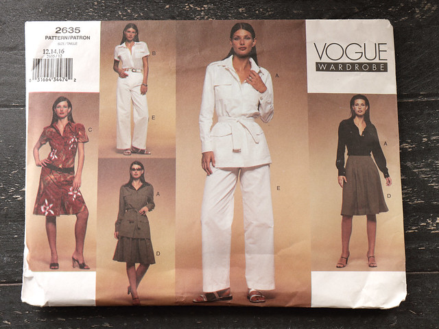 Vogue Wardrobe 2635 sewing pattern – Jacket, Dress, Shirt, Skirt, Dress & Pants – size 12-16 – uncut, factory folded