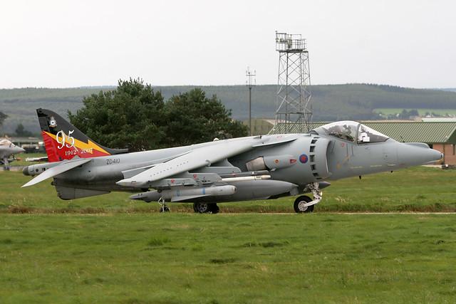 ZD410-IV(AC) Sqn 95th anniversary Harrier GR9