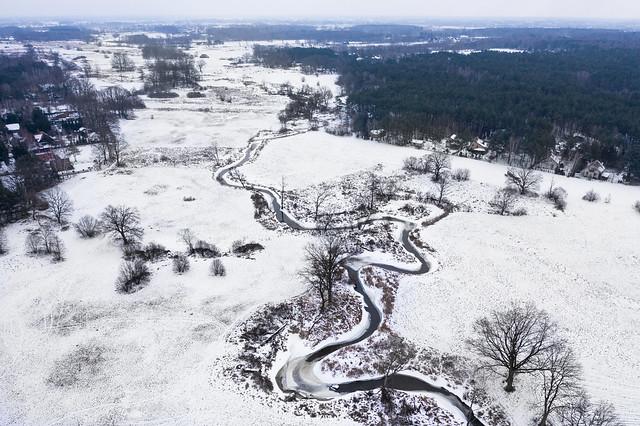 Rządza, winter view