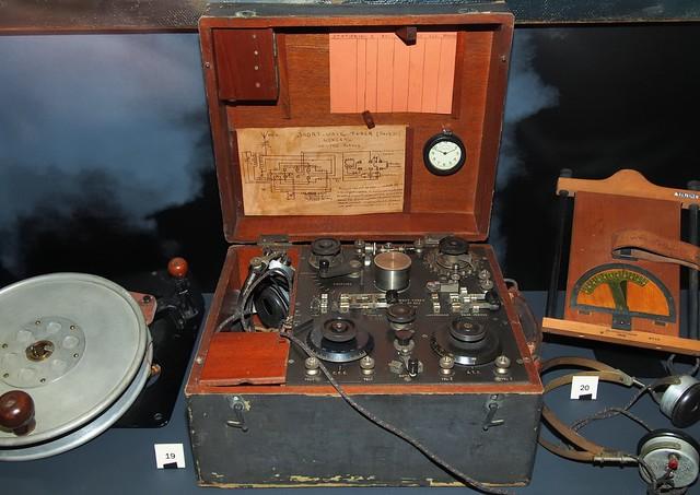 British aviation wireless ground station, 1918 - RAF Museum, Hendon Aerodrome, London NW9