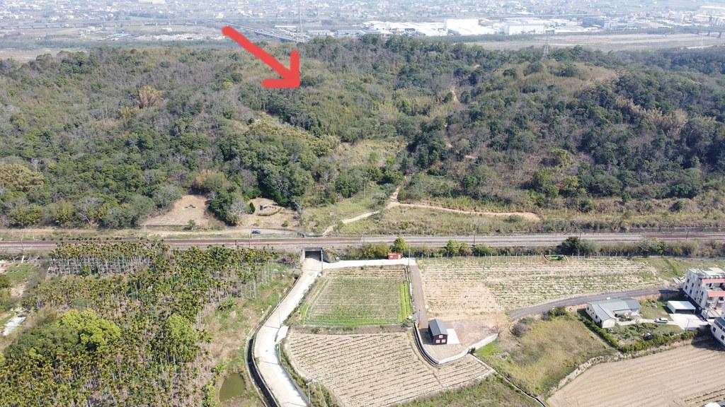 苗栗縣銅鑼鄉竹森村淺山地區有一起7.6公頃的開發案。台灣虎保育協會理事李璟泓提供