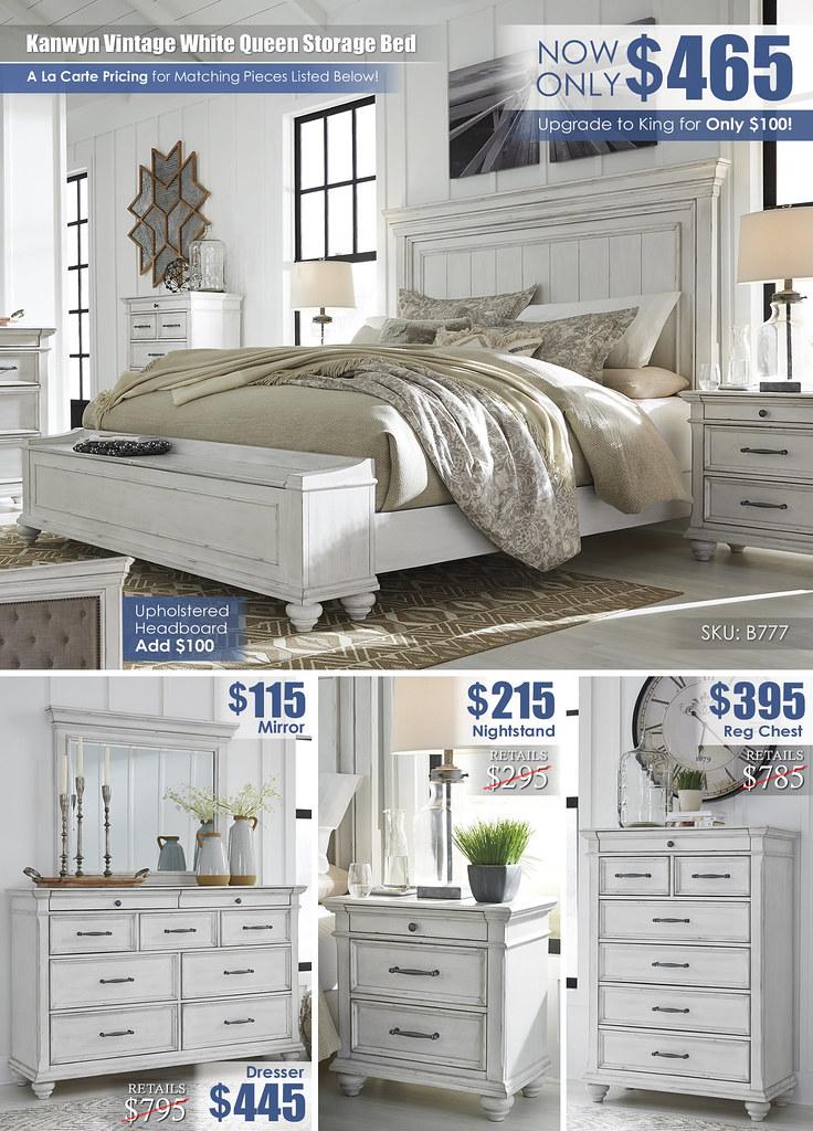 Kanwyn Vintage White Queen Storage Close Layout_B777_2021