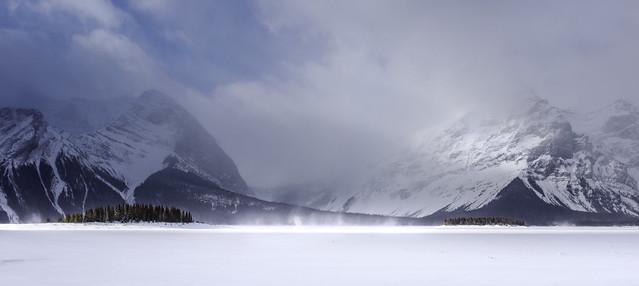 Frozen Kananaskis Lake