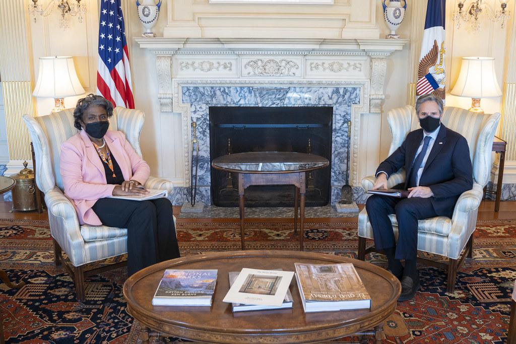 Secretary Blinken Meets with Ambassador Thomas-Greenfield
