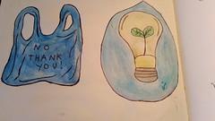 watercolour eco drawings