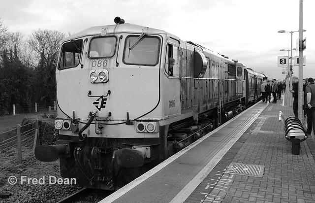 Irish Rail 086 in Ballybrophy.