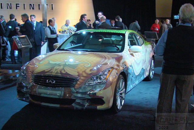 Heidi Taillefer Designed Infiniti G37 Art Car at 2010 CIAS