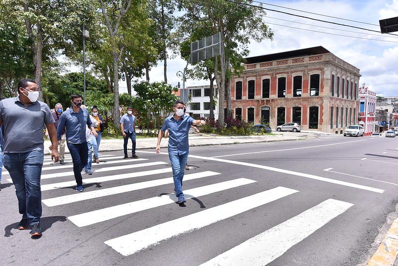 24.2.2021 - Prefeito David Almeida faz visita técnica em espaços do Centro Histórico de Manaus
