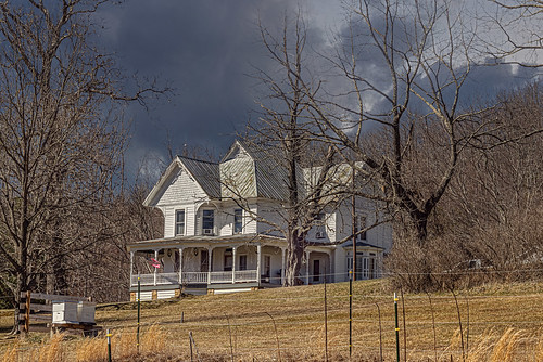 home farmhouse queenanne farm lindside wv monroecounty landscape clouds beehives bees winter bobbell nikon d800 weather