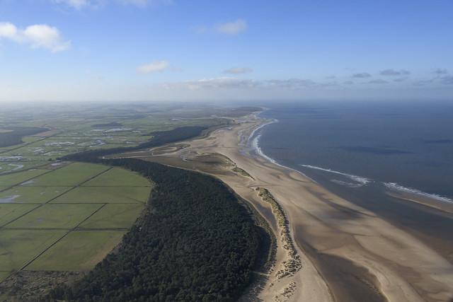 Holkham Beach aerial image - north Norfolk coast