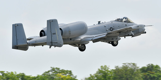 Fairchild Republic A-10 Thunderbolt II also called the Warthog USAF 81-0980 355th Fighter Wing
