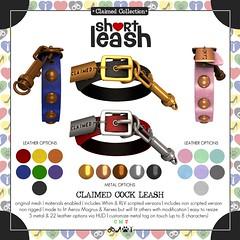 .:Short Leash:. Claimed Cock Leash