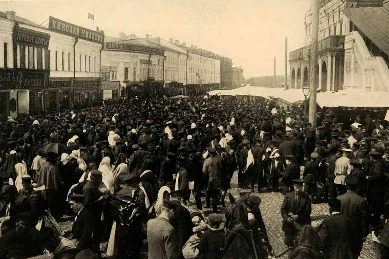 Сухаревский рынок. 1903