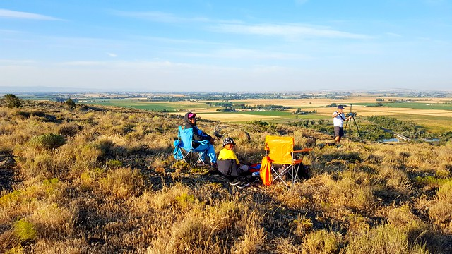 Sitting on tuff cone in Menan, Idaho waiting for the great eclipse