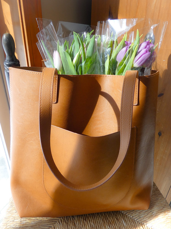 tulips in tote