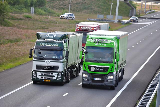 Volvo FH3 Overbeek Vondelingenplaat MAN TGX Bring (N)