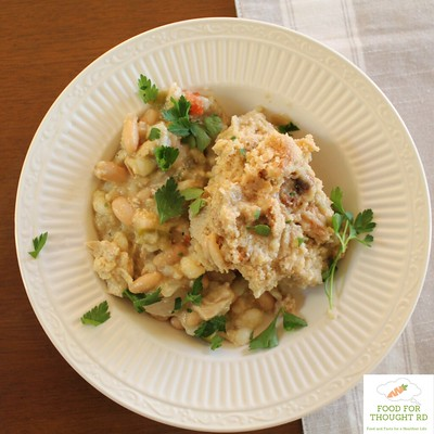 Chicken Chili with Cornmeal Dumplings