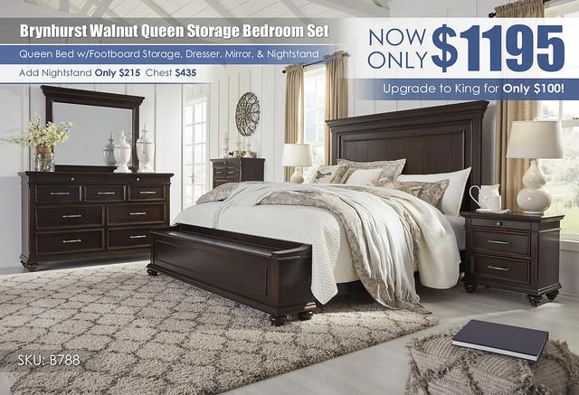 Brynhurst Walnut Queen Storage Bedroom Set_B788-31-36-46-58-56S-97-93_2021