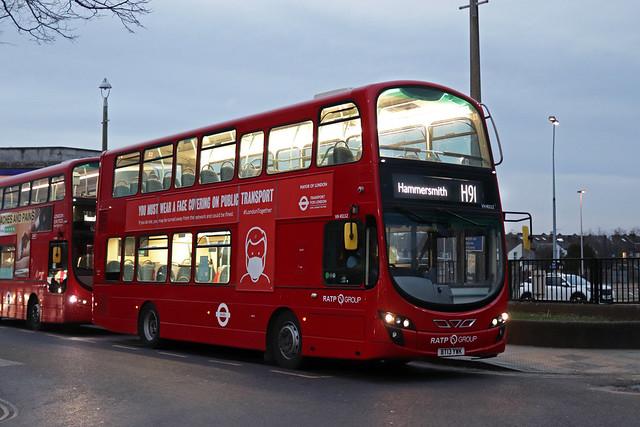 Route H91, London United, VH45112, BT13YWK