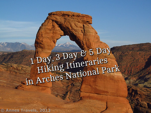 Delicate Arch about an hour before sunset, Arches National Park, Utah, hikes
