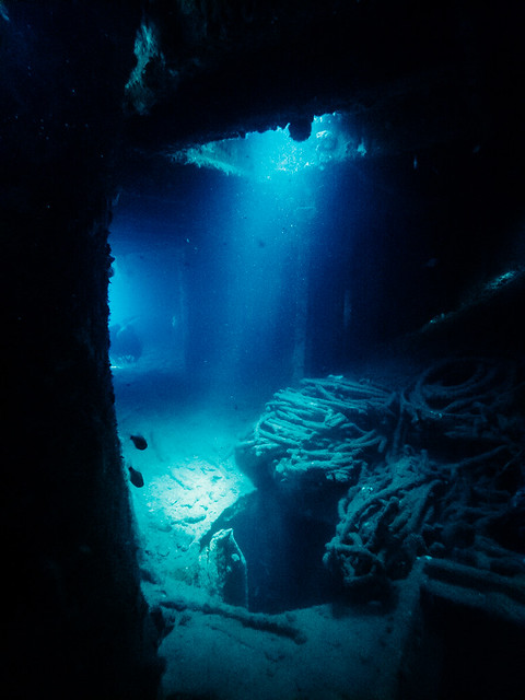 Inside wreck of Japanese freighter Olympia Maru, Coron (Palawan, The Philippines)