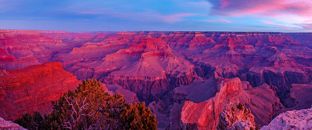 Grand Canyon National Park — Pink Sunrise from Hopi Point 0321