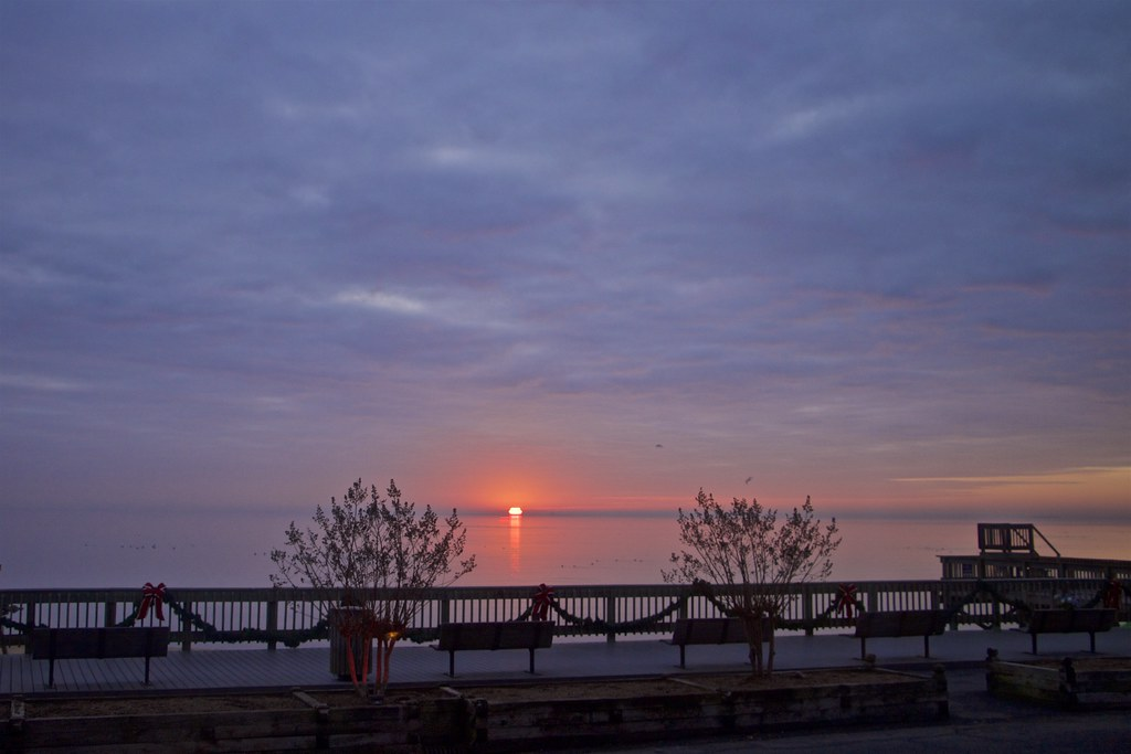 View From My Balcony- Sunrise At North Beach, MD