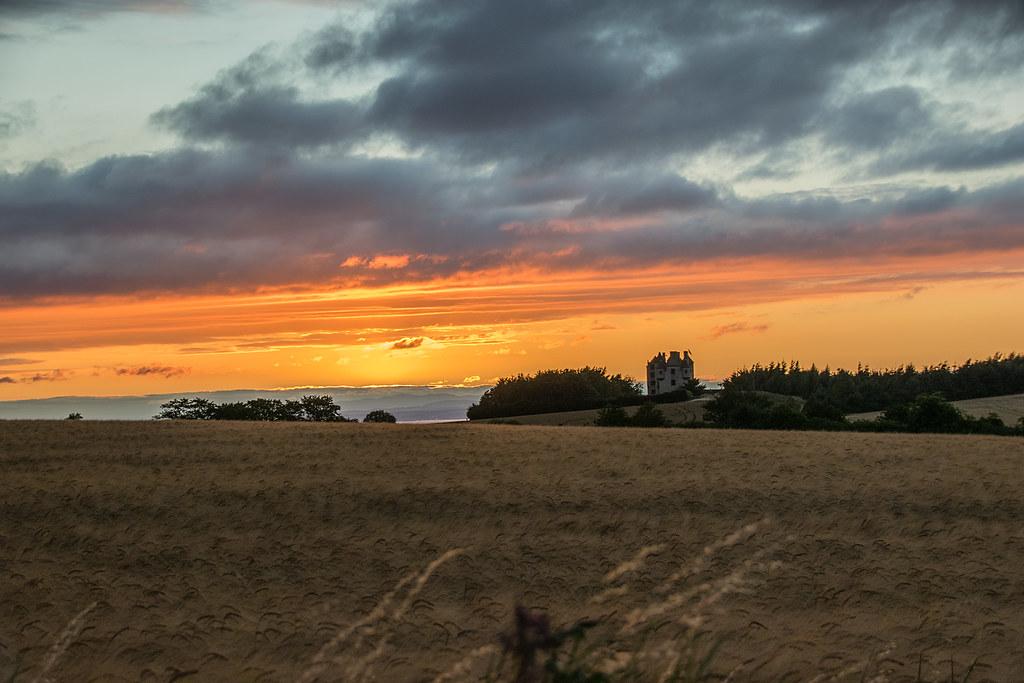 Faside castle sunset