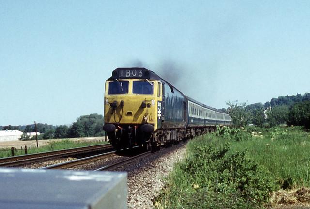 31May75. Exeter St Davids. EE Class 50 50002 (Ex D402). [Slide_0970]