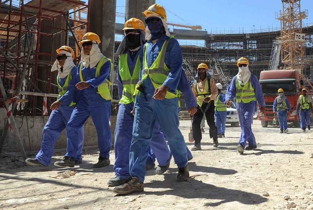 因世足賽引入大量移工的卡達,卻被質疑未能妥善照顧工人。(圖片來源:European Pressphoto Agency)