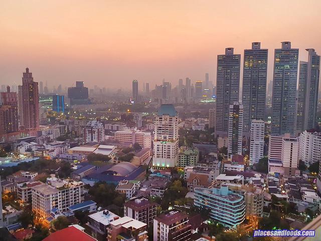 bangkok sunset view